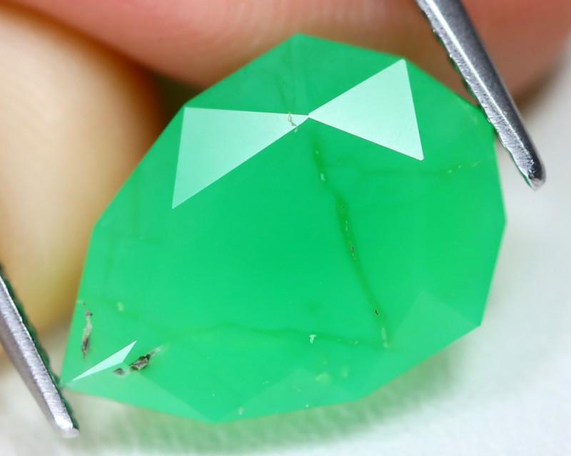 Chrysoprase 4.78Ct Pear Cut Natural Australian Green Chrysoprase C1701