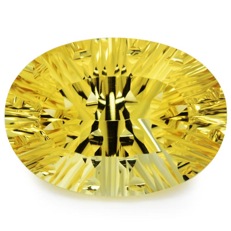 43.12 Cts Millennium cut Golden Yellow Natural Citrine Gemstone