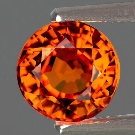4.00 mm Round 0.45ct Orange Spessartite Garnet [VVS]