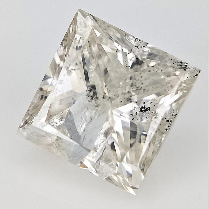 1.01 cts , Rarest Salt and Pepper Diamond , Loose Princess Diamond