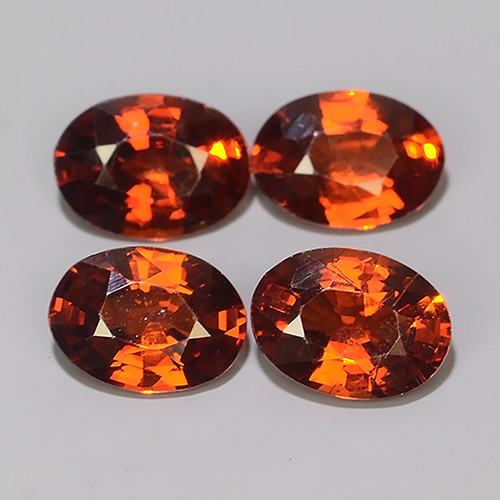 4.30 CTS OUTSTANDING! OVAL FACET RED NATURAL SPESSARTITE GARNET!!