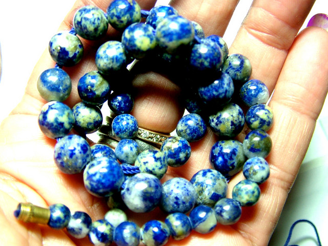 LAPIS BEADS DRILLED  NATURAL 155 cts NP-