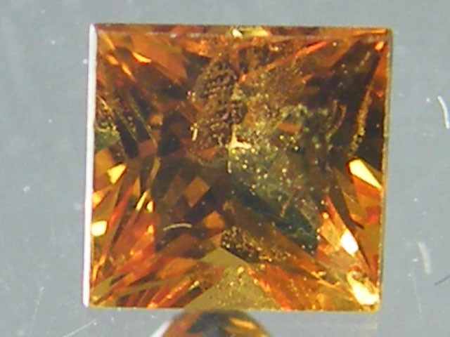 SQUARE FANCY CUT  YELLOW COLOUR SAPPHIRE  0.40CARAT  TW 890