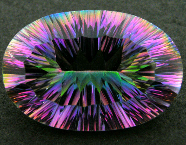 MYSTIC QUARTZ  VVS  FACETED 50.55 CTS  GTT 131