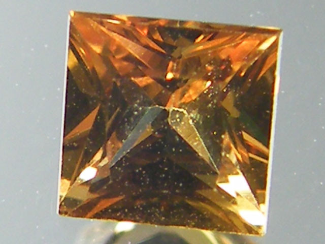 SQUARE FANCY CUT ORANGE COLOUR SAPPHIRE  0.35CARAT  TW 913