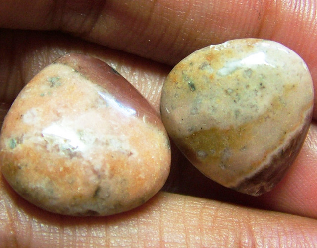 RHODOCHROSITE BEADS 2 PIECES 30CTS NP-251