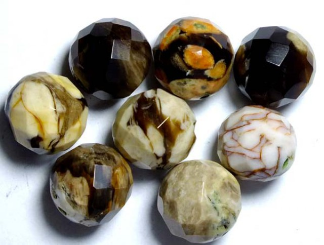 PETRIFIED WOOD BEADS, (8PC) 62.60CTS NP-1034