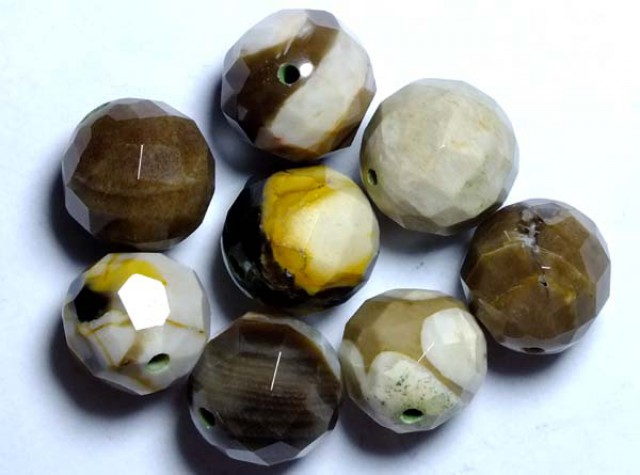 PETRIFIED WOOD BEADS, (8PC) 63.10CTS NP-1040