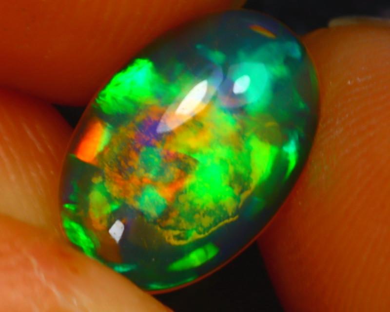 Welo Opal 1.04Ct Natural Ethiopian Play of Color Opal E2118/A28