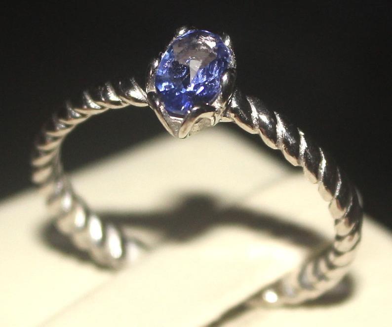 Natural Tanzanite 925 Silver Ring 119