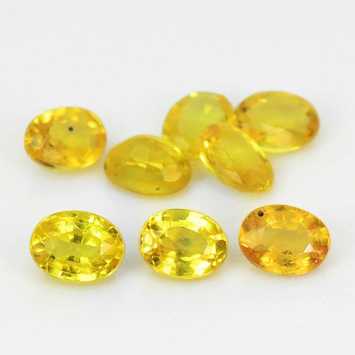 Yellow Sapphire 2.00 Cts 8 Pcs Amazing  Natural Fancy Loose Gemstone