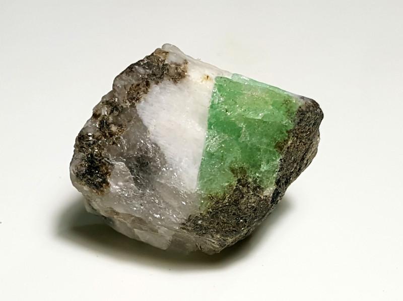 Amazing Natural color Swat Emerald  specimen 75Cts-Pakistan
