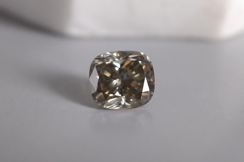 3.73ct Fancy Dark Gray Greenish Yellow Diamond GIA