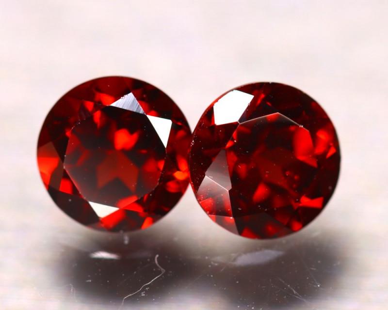 Almandine 3.40Ct 2Pcs Natural Vivid Blood Red Almandine Garnet EF2602/B3