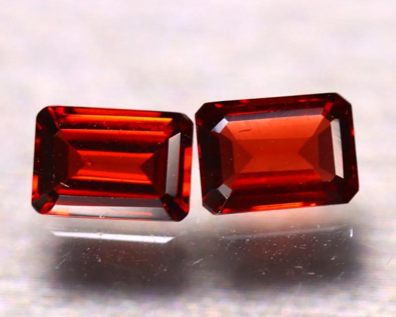 Almandine 2.40Ct 2Pcs Natural Vivid Blood Red Almandine Garnet EF2603/B3