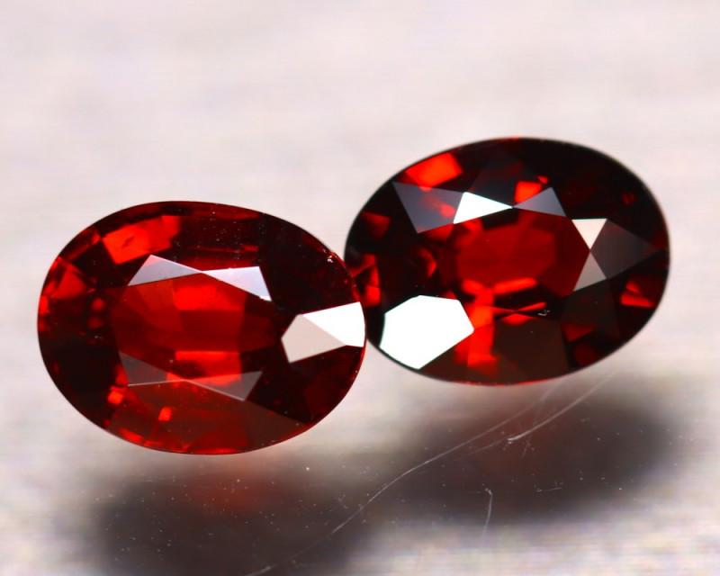 Almandine 3.05Ct 2Pcs Natural Vivid Blood Red Almandine Garnet EF2605/B3