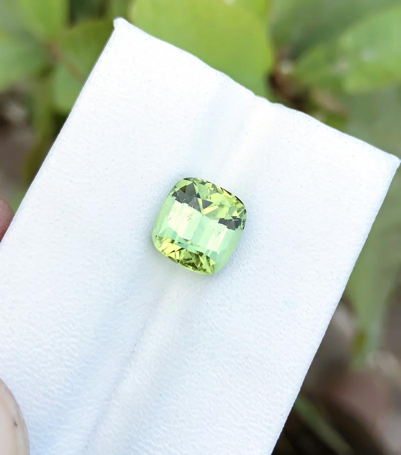 2.90 Ct Natural Greenish Blue Transparent Tourmaline Ring Size Gemstone