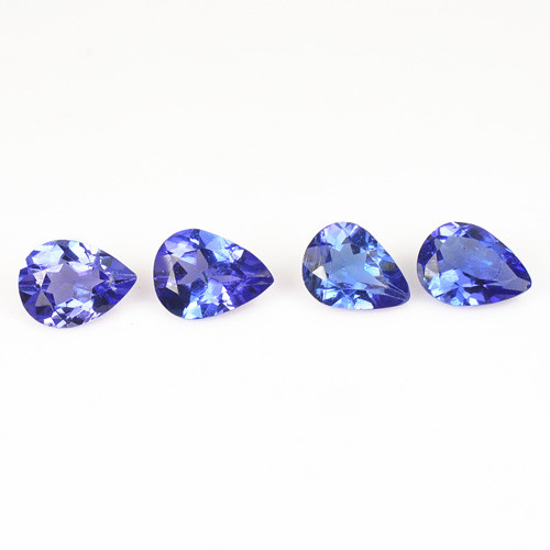 0.57 Cts 2 pcs Amazing rare Violet Blue Color Natural Tanzanite Gemstone