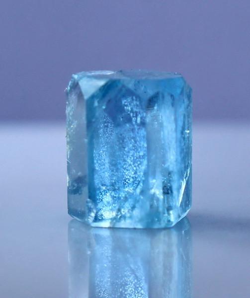 NR!!!! 6.90 CTs Natural & Unheated~ Blue Aquamarine Handmade Crystal