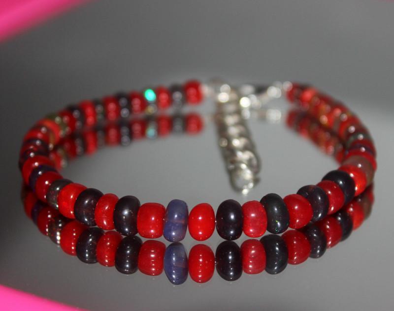 36 Crts Natural Ethiopian Welo Multi Color Opal Bracelet 289