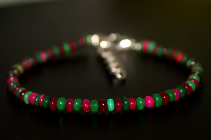 16 Crts Natural Ethiopian Welo Multi Color Opal Bracelet 293
