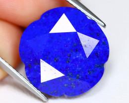 Lapis Lazuli 11.48Ct Flower Cut Natural Afghanistan Blue Lapis Lazuli A2112