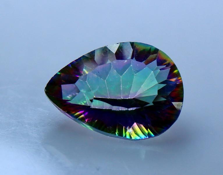 NR!!!! 5.15 CTs Natural & Unheated~ Multi Color Coated Quartz Gemstone
