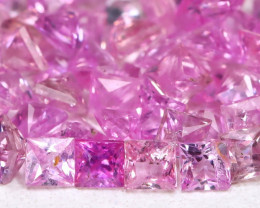3.45Ct Princess 1.9mm Natural Untreated Pink Color Sapphire Lot B2110