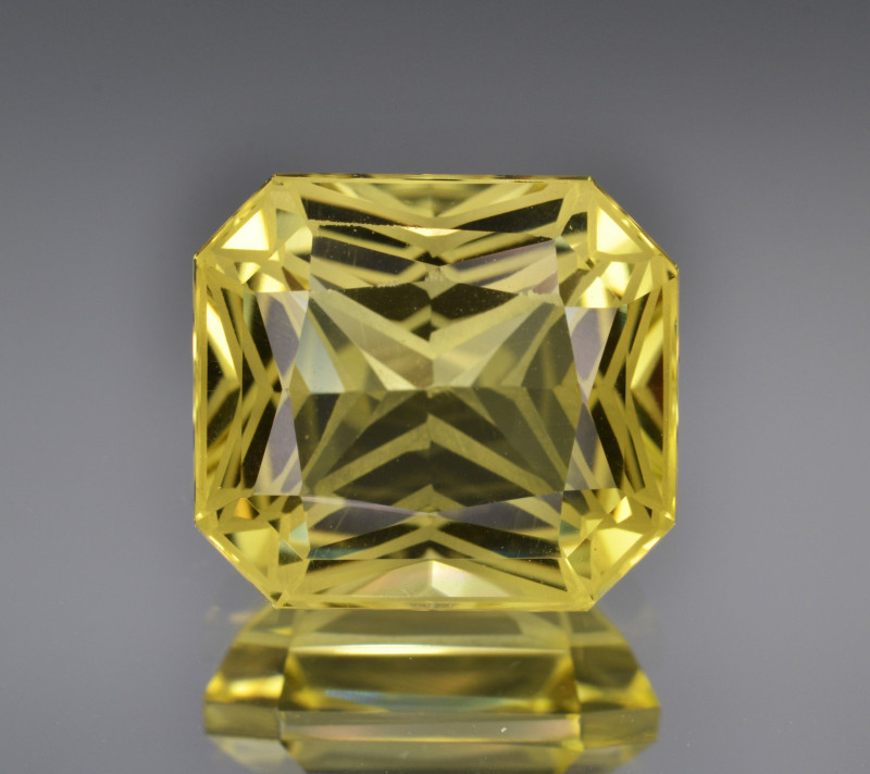 Natural Lemon Quartz 8.63 Cts Top Quality With  Precision Cut