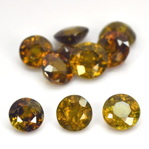 7.04 Cts 10pcs Sphene Color Change Natural Gemstone