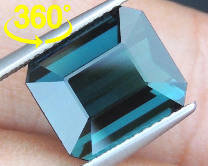 6.64cts, Cyan Blue Indicolite Tourmaline,