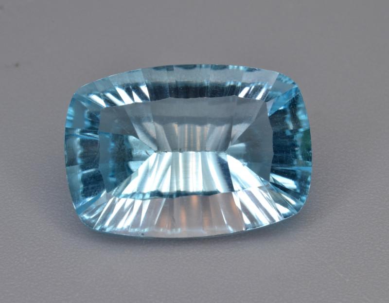 Natural Blue Topaz 7.75 Cts Concave Cut.