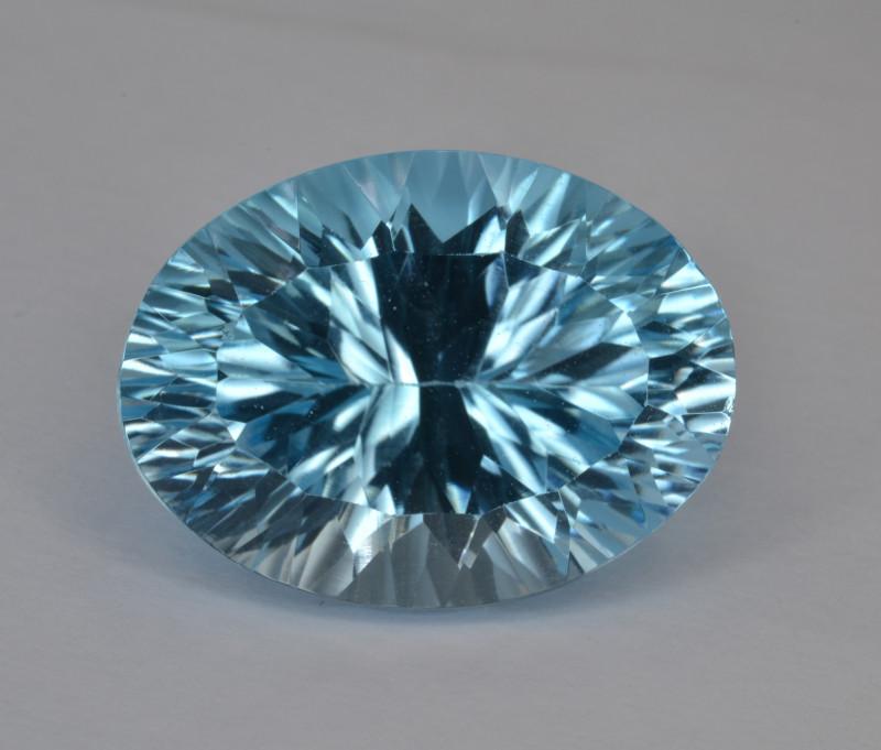 Natural Blue Topaz 9.62 Cts Concave Cut.