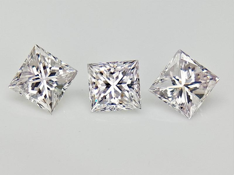 3/0.54 cts  CTS , Rarest Faint Pink Natural Diamonds , Loose Diamonds For J
