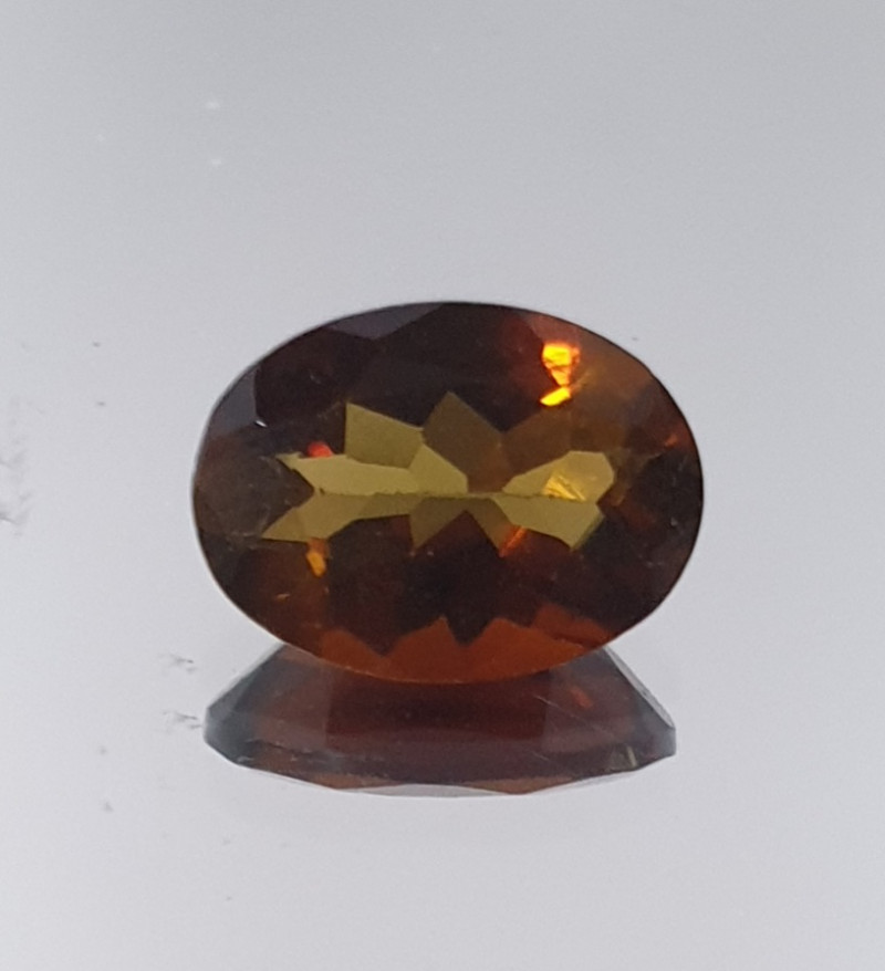 Brown Tourmaline Faceted Oval 8x5.9mm.-(1.11ct).- SKU 212