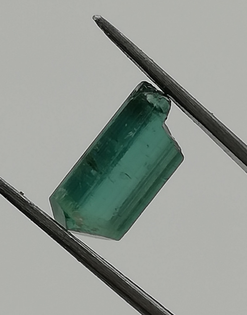 Tourmaline, 1.58ct, rough in a very nice colour, who is willing to cut it?