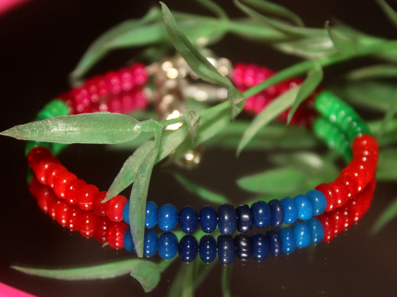 23 Crts Natural Ethiopian Welo Multi Color Opal Bracelet 319