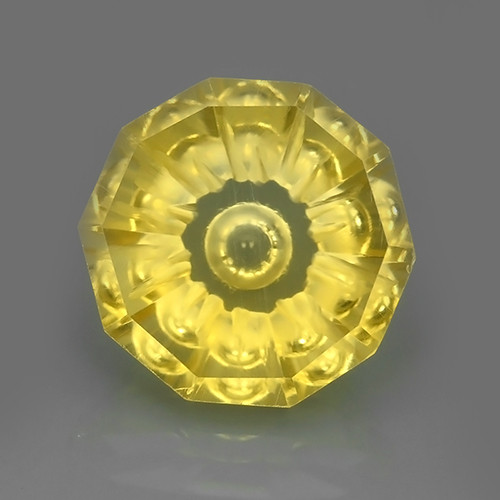 11.40 CTS AWESOME YELLOW GOLD CITRINE FANCY CUTTING ROUND~WONDERFUL!!
