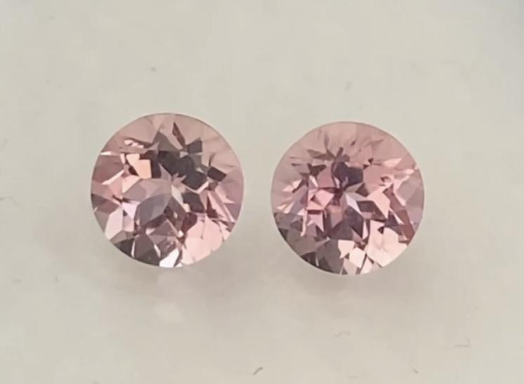 Quality Pretty Pink Tourmaline Pair - Brazil