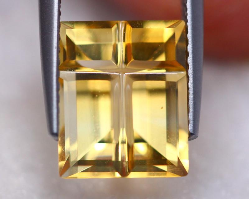 4.03ct Natural Yellow Citrine Fancy Cut Lot D479