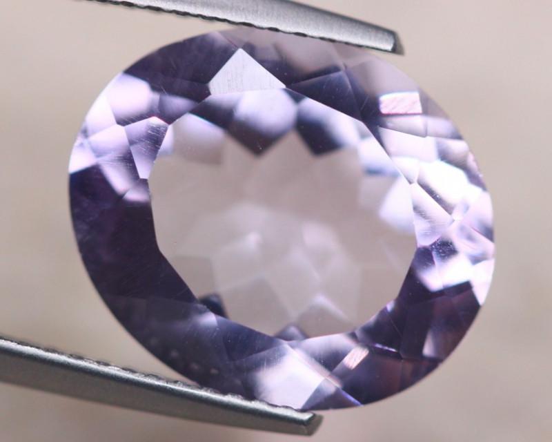 6.13ct Natural Light Amethyst Oval Cut Lot V8734