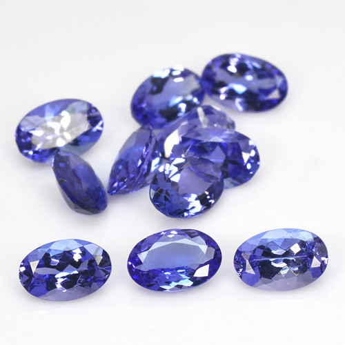 4.93 Cts 11 pcs 6x4 mm AAA Violet Blue Color Natural Tanzanite Gemstone