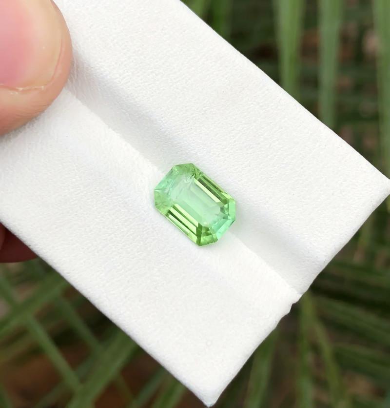 2.05 Ct Natural Green Transparent Ring Size Tourmaline Gemstone