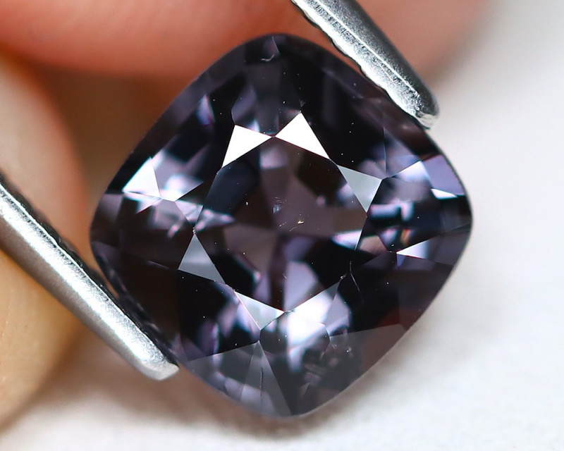 Spinel 1.61Ct VS2 Square Cut Natural Burmese Purple Spinel A2406