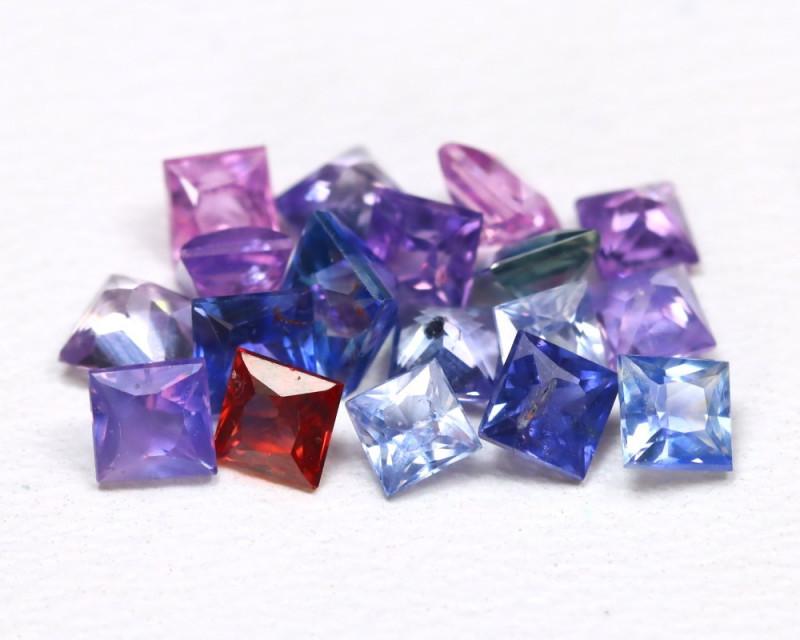 2.26Ct Princess Natural Untreated Fancy Color Sapphire Lot C2502