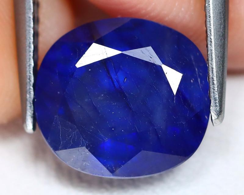Blue Sapphire 6.03Ct Oval Cut Royal Blue Color Sapphire C2505