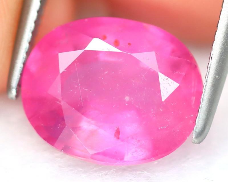 Pink Sapphire 3.81Ct Oval Cut Vivid Pink Color Sapphire C2512