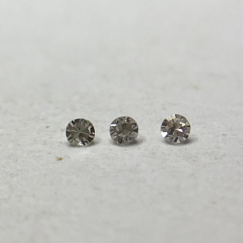 0.01 ct 3 x Fancy Light - Fancy Grey VS Single Cut Round Diamond