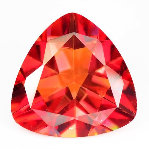 Mystic Quartz 10.62 Cts Orange Red Natural Loose Gemstone