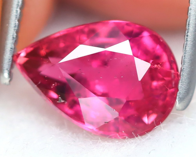 Pink Tourmaline 1.33Ct Pear Cut Natural Vivid Pink Tourmaline B7362